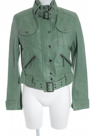 New Look Lederjacke hellgrün Casual-Look