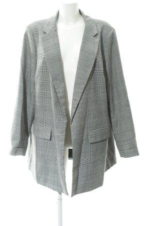 New Look Blazer largo negro-blanco puro estampado príncipe de Gales look casual