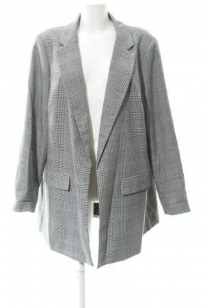 New Look Long-Blazer schwarz-wollweiß Glencheckmuster Casual-Look