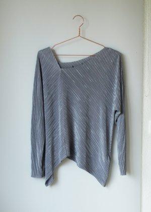 New Look Longsleeve Shirt in silber grau Asymmetrisch 38