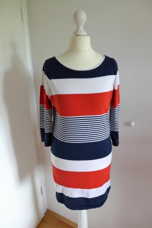 New Look Mini Kleid Sommer maritim gestreift rot weiß blau Gr. 36