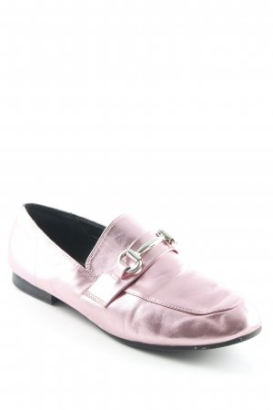 New Look Mocassino rosa effetto bagnato