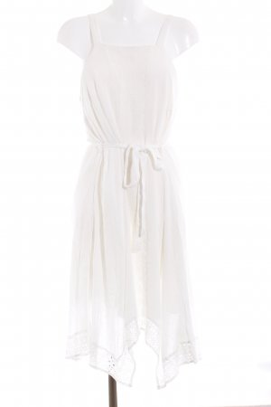 New Look Halter Dress natural white floral pattern beach look