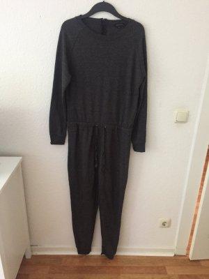 New Look Overall aus Sweatshirt Stoff Dunkelgrau