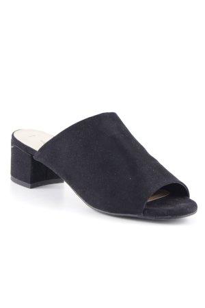 New Look Décolleté spuntata nero stile da moda di strada