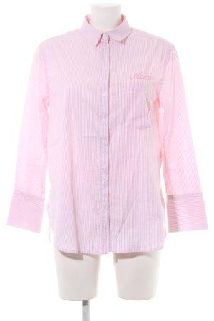 New Look Petite Hemd-Bluse wollweiß-hellrosa Streifenmuster Casual-Look