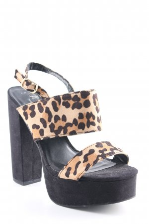 New Look Platform High-Heeled Sandal leopard pattern '90s style