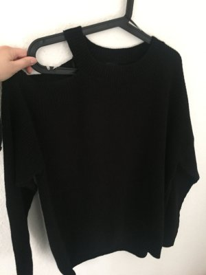 New Look Pullover mit Cut Out Schwarz