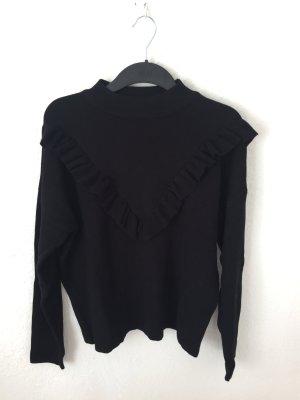 New Look Pullover mit Volants schwarz
