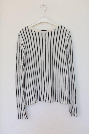 New Look Pullover Streifen Vintage Look schwarz weiß Gr. 36/38 Knit Strick