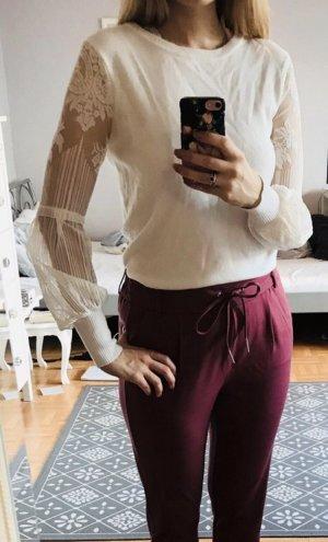 New Look Pullover weiß spitze gr. 38 Blogger