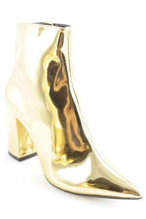 New Look Zipper Booties gold-colored extravagant style