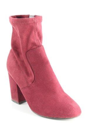 New Look Reißverschluss-Stiefeletten purpur Boho-Look
