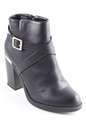 New Look Stivaletto con zip nero elegante