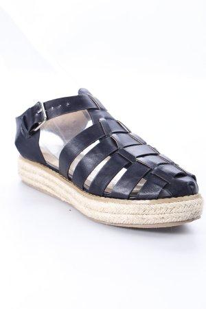 New Look Riemchen-Sandalen schwarz-creme Street-Fashion-Look