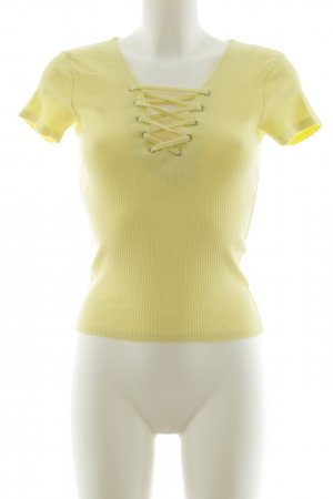 New Look Camicia a coste giallo pallido stile casual
