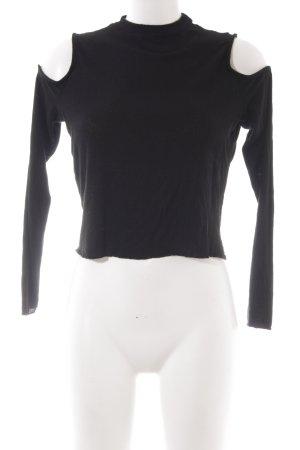 New Look Rippshirt schwarz Casual-Look