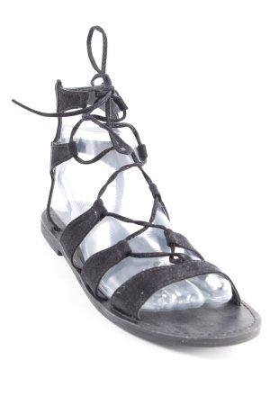 New Look Romeinse sandalen zwart Boho uitstraling