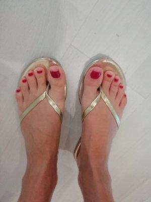New Look Sandale Sandalen Sandalette Dianette
