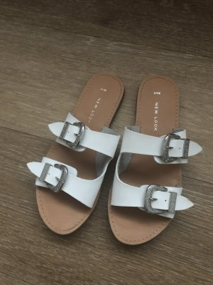 New Look High-Heeled Sandals white