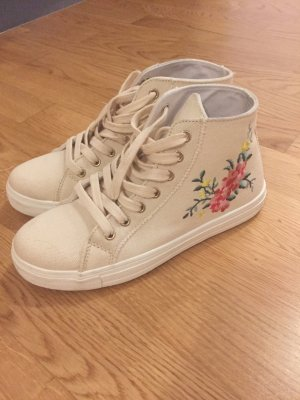 New Look High Top Sneaker cream-pale yellow