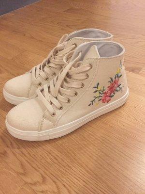 New Look Sneaker alta crema-giallo chiaro