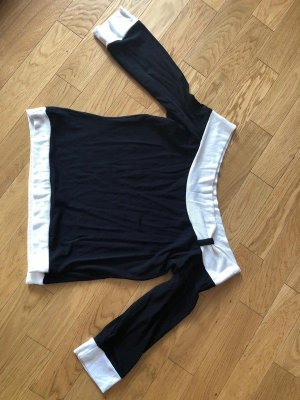 New Look Camisa larga negro-blanco puro