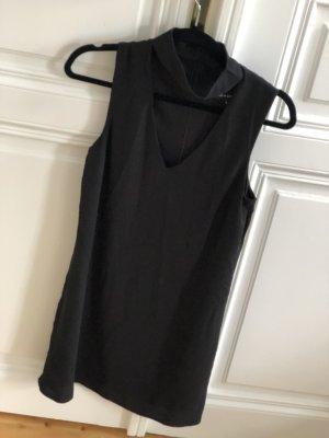 New Look schwarzes Kleid mit Choker-Ausschnitt