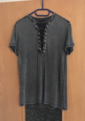 New Look Shirt grau schwarz gr. 36 Blogger