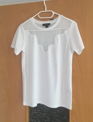 New Look Shirt transparent Netz weiß gr. 36 Blogger neu