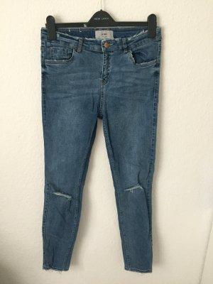 New Look Skinny Jeans Destroyed Blau