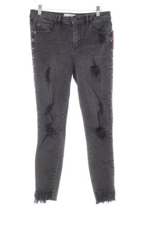 New Look Jeans skinny grigio scuro stile casual