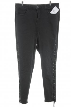 New Look Skinny Jeans schwarz Rockabilly-Look
