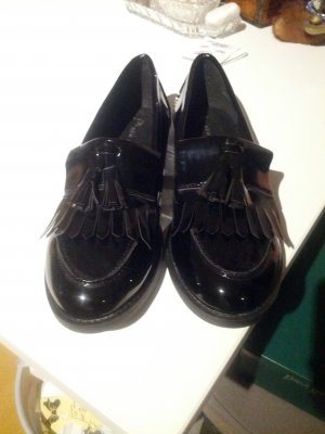 New Look Slipper College Halbschuhe Loafer Lack Tessel 40