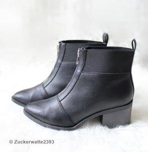 New Look Stiefeletten Boots Schwarz mit Reißverschluss 36/37