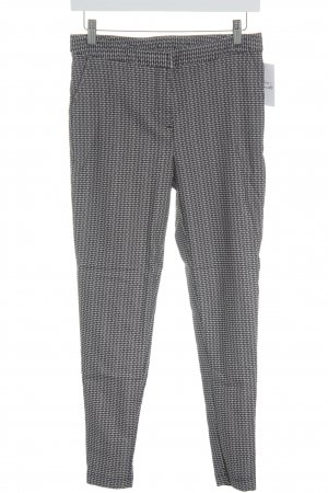 New Look Stoffhose schwarz-weiß grafisches Muster Business-Look