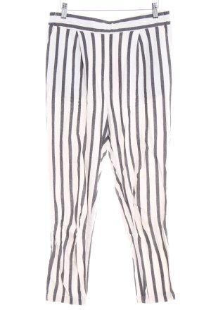 New Look Stoffhose schwarz-wollweiß Streifenmuster Casual-Look