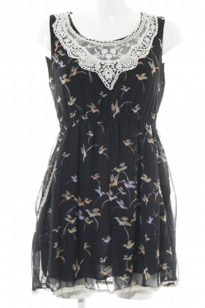 New Look Strandkleid schwarz-wollweiß Motivdruck Boho-Look