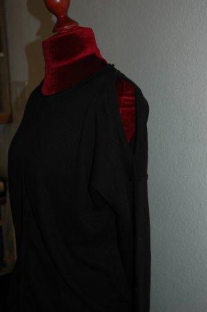 New Look Sweatshirt schwarz mit Aussparungen an den Schultern