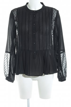 New Look Transparenz-Bluse schwarz Elegant