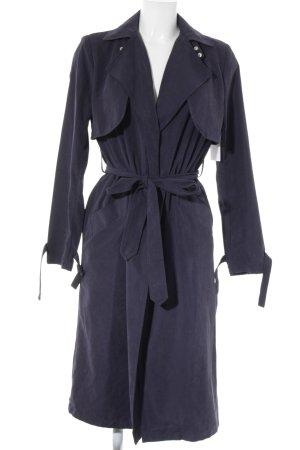 New Look Trenchcoat donkerblauw straat-mode uitstraling