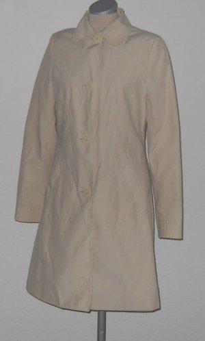 New Look Trenchcoat Mantel dünn beige sand Gr. UK 10 34 36 Baumwolle + Herzen