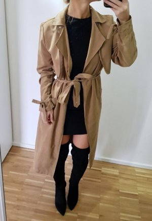 New Look Trenchcoat Nude 38 S M Braun lang