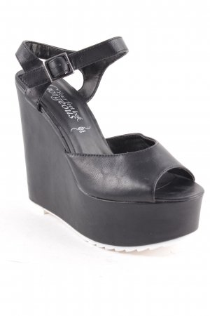 New Look Wedges Sandaletten schwarz extravaganter Stil