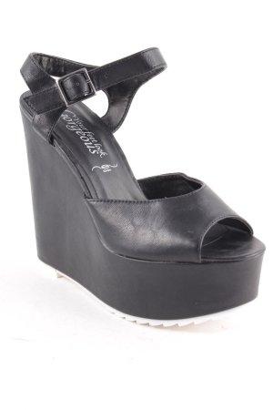 New Look Sleehaksandalen zwart extravagante stijl