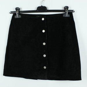 New Look Petite Falda de cuero negro Gamuza