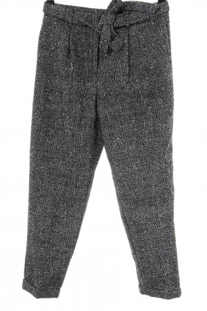 New Look Woolen Trousers black-white check pattern casual look