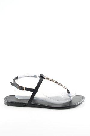 New Look Zehentrenner-Sandalen schwarz Casual-Look