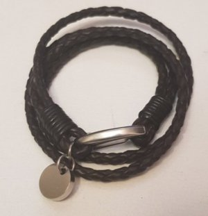 New One Lederarmband, dunkelbraun