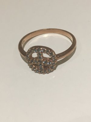New One Statement Ring rose-gold-coloured-azure real silver